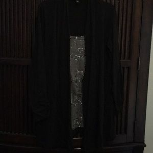 Great sequin under shirt with cardigan EUC
